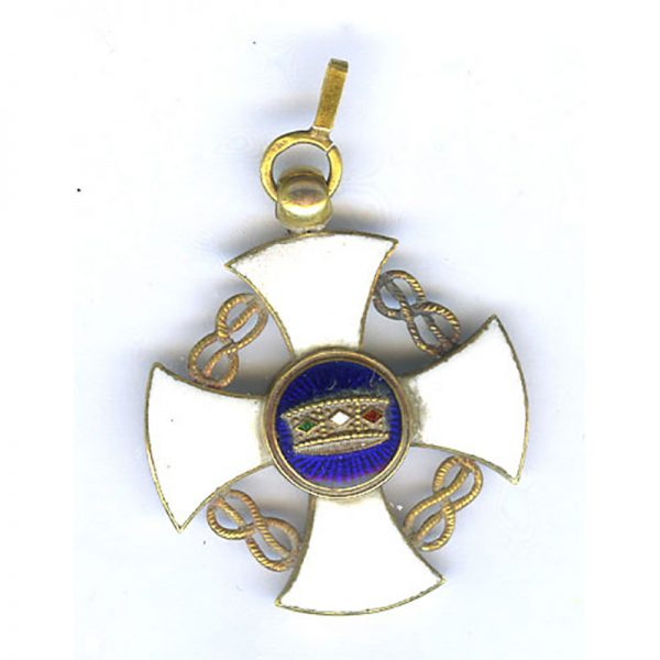 Order of the Crown Knight all gold reduced size 24mm (n.r)	