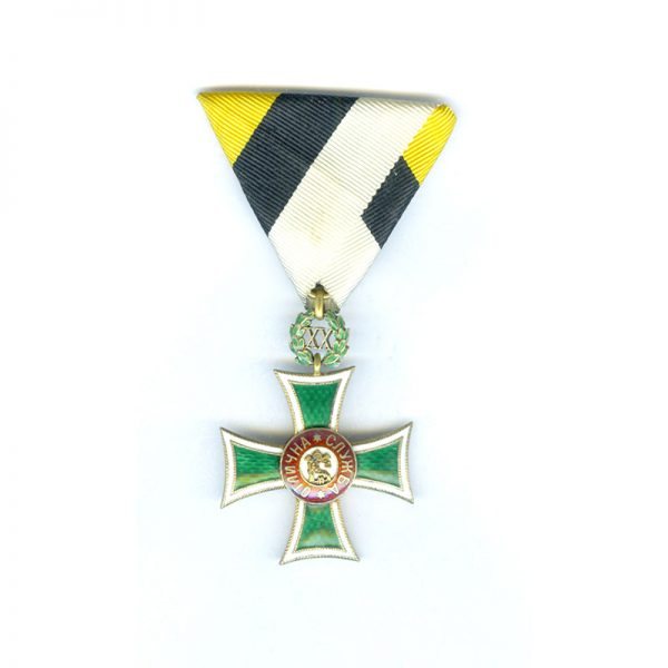 Military Long Service Cross 1st class for XX years Boris III superb... 1
