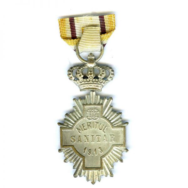 Medical Merit Cross 2nd  class silvered and enamel 2