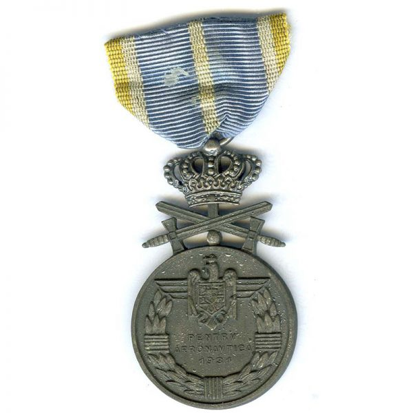 Air Force Medal for Bravery with Crown and Swords 2nd class silvered... 2