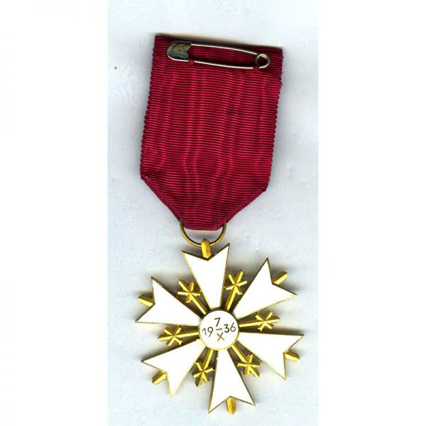 Order of the White Star Officer small repairs to 2 arms near... 2