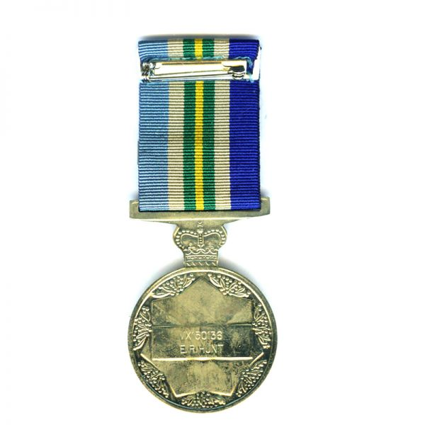 General Service Medal 1945-1975 bar PNG officially named to VX150136  E.R.Hunt  in... 2