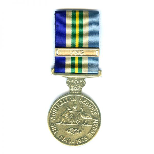 General Service Medal 1945-1975 bar PNG officially named to VX150136  E.R.Hunt  in... 1