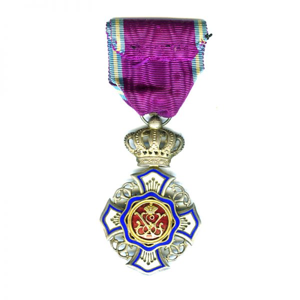 Order of the Lion of Belgium Knight excellent quality in fitted embossed... 2
