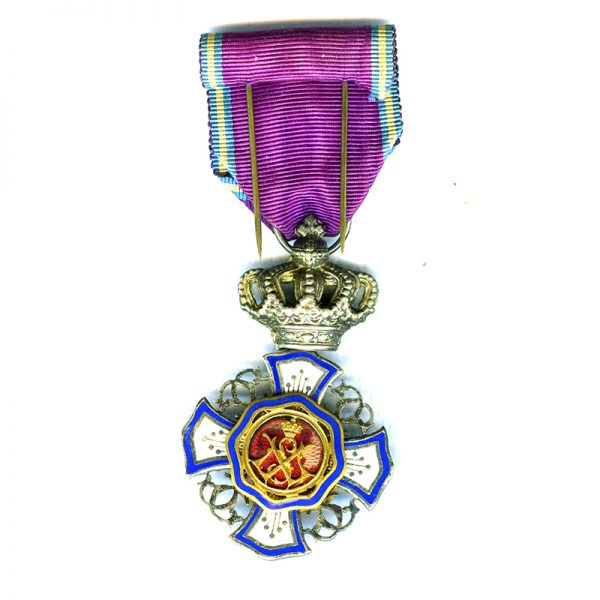 Order of the Lion of Belgium Knight  chipping to centre enamel 2