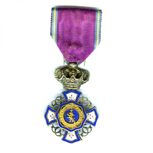 Order of the Lion of Belgium Knight  chipping to centre enamel 1