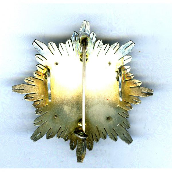 Military Merit Order  Grand Officer breast star  Kingdom white enamel 2