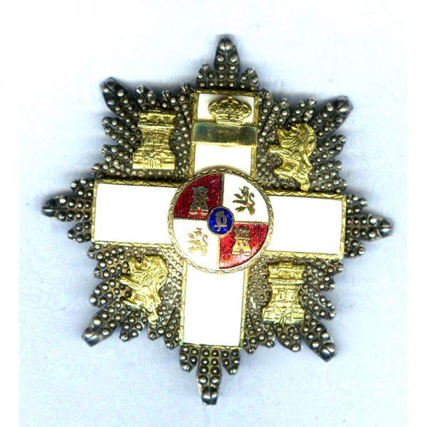 Military Merit Order  Grand Officer breast star  Kingdom white enamel 1