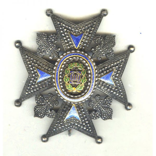Order of Charles III Grand Officer  breast star 1