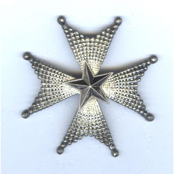 Order of the North Star Grand Officer breast star 1