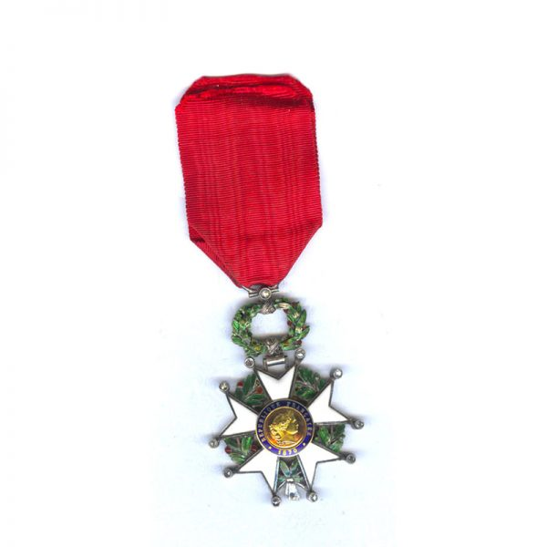 Legion D'Honneur 1870-1951 Knight superb deluxe issue with raised wreath and gold... 1