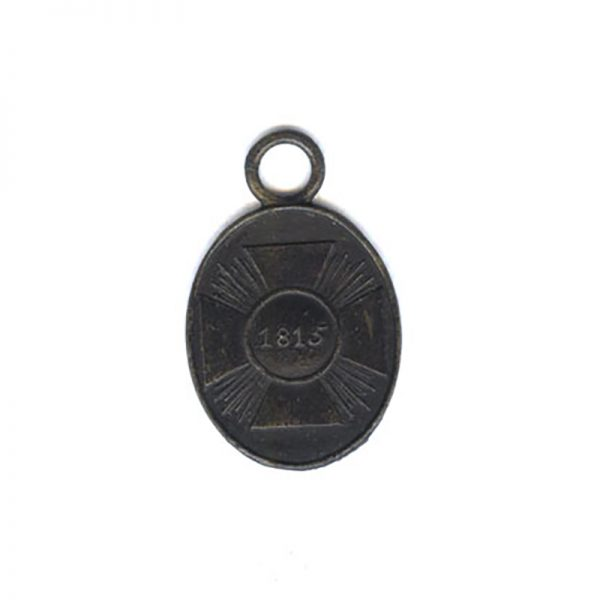 1815 Waterloo War medal non-combattant in blackend Iron (n.r.) (L26030)  G.V.F... 1