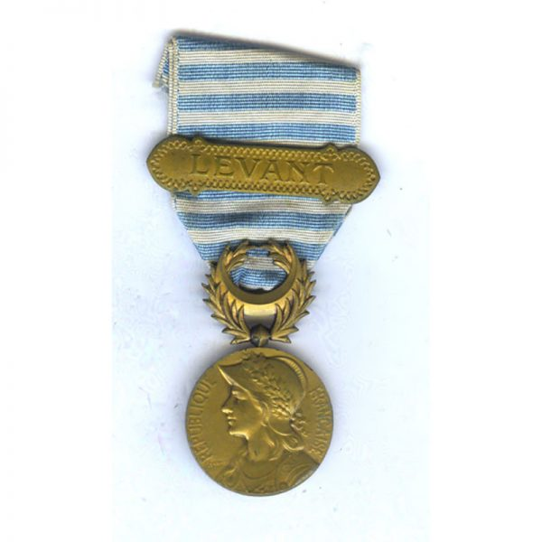 Levant  Syrie Cilicie medal bar Levant  gilded(L26052)  G.V.F. £45 1