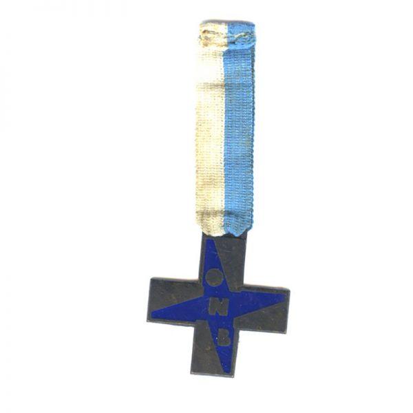 Fascist Youth Cross ONB blue enamel large 1