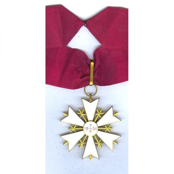 Order of the White Star Commander neck badge with original full neck... 2
