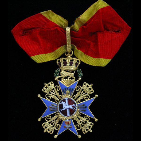 House order of Henry the Lion  Commander neck badge in gold 1