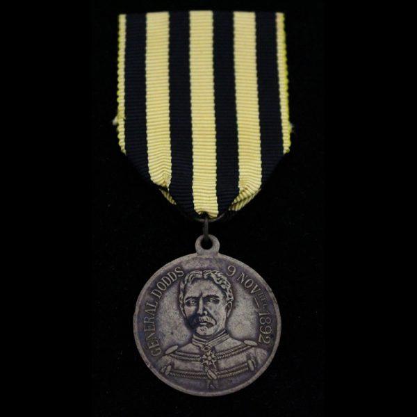 "Dahomey medal 1892 General Dodds medal  ""Campagne Du Dahomey 1890-1892""  brass 29mm 1"