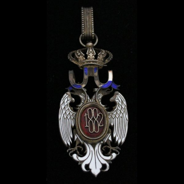 Order of the White Eagle Commander neck badge  chipping to blue ribbon... 2
