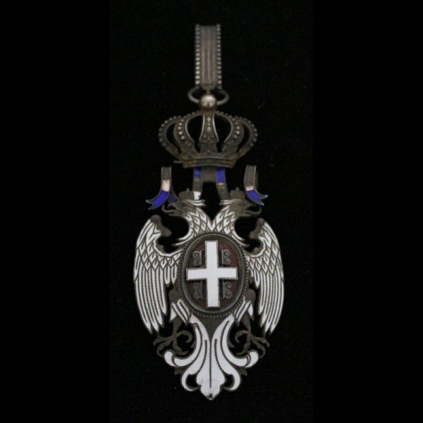 Order of the White Eagle Commander neck badge  chipping to blue ribbon... 1