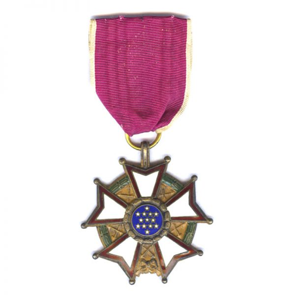 Legion of Merit  Legionnaire    very early issue with ribbon bar and lapel... 1