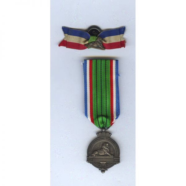 Defence of Belfort 1870-71 medal in silver with matching silver lapel badge... 1