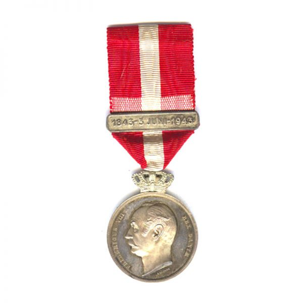 Frederick 8th Centenary medal 1843 -1943 1