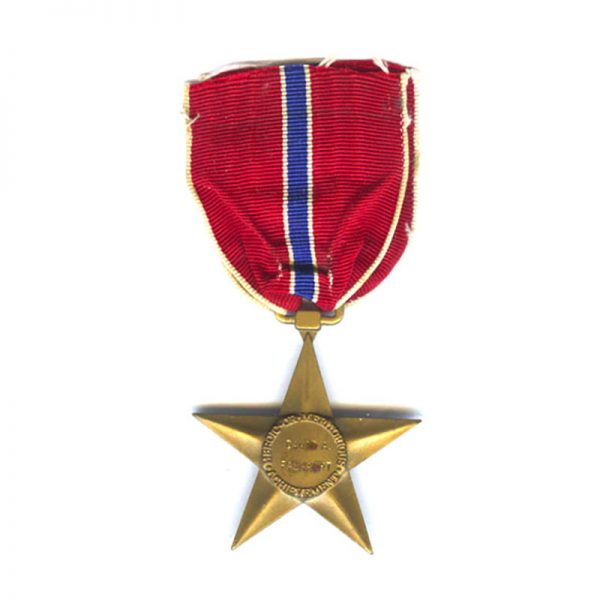 Bronze  Star  old early issue named to David A Fasnaght 2