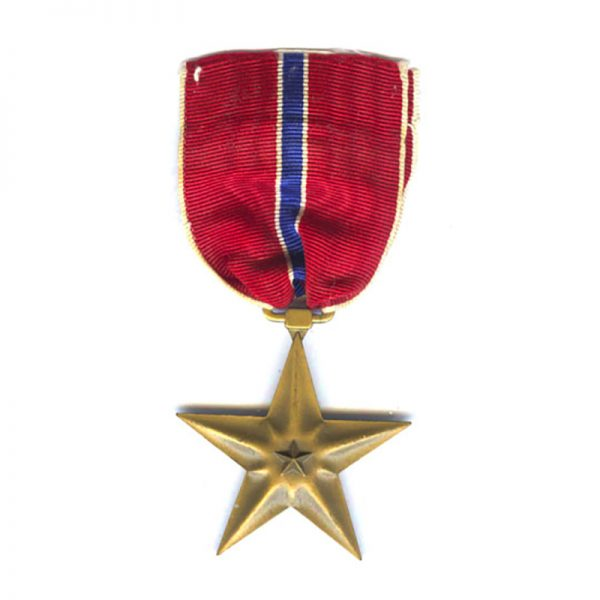 Bronze  Star  old early issue named to David A Fasnaght 1