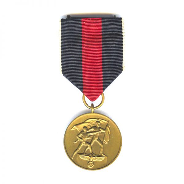 Occupation of Sudetenland 1st Oct. 1938. bronze (L27466)  N.E.F. £55 1