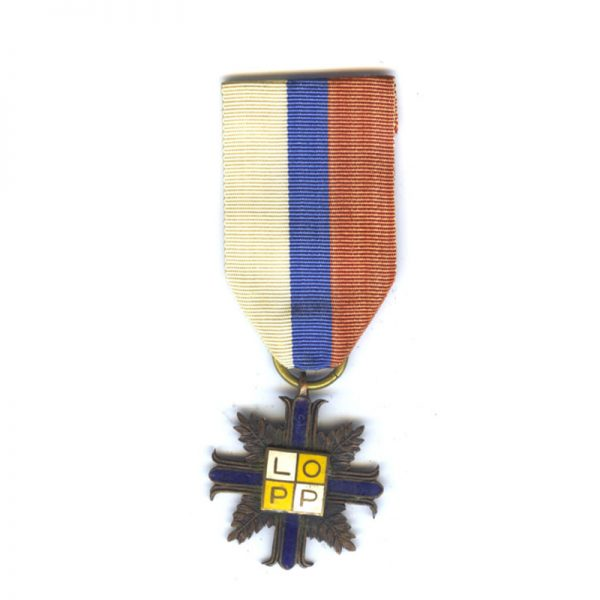 Air Defence League Cross 3rd class original ribbon 1