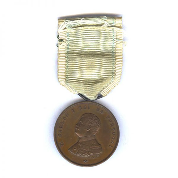 Don Carlos I Coronation medal 28th December 1889 bronze (L27515)  N.E.F. £95 1