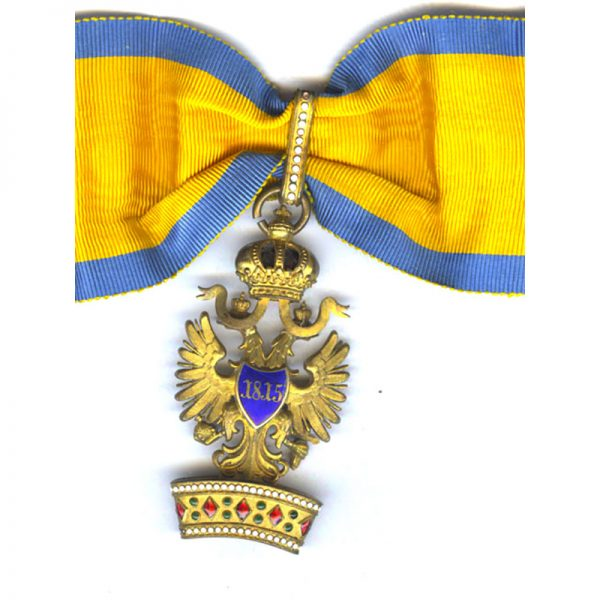 Order of the Iron Crown 2nd class neck badge in bronze gilt 2