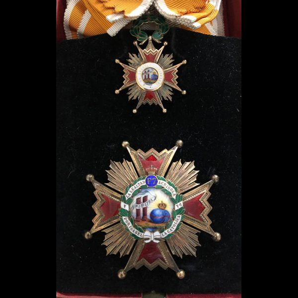 Order of Isabella the Catholic  Grand Cross set 1st type 1