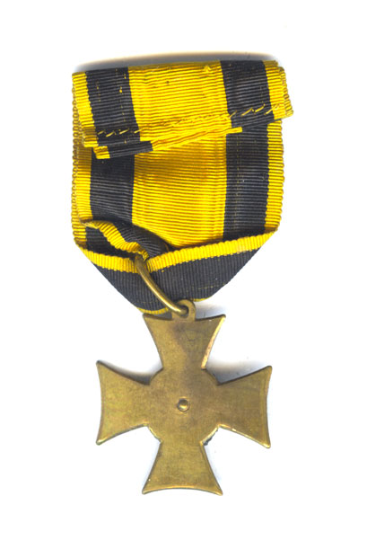 Officer's Long service cross 25 years  1st Class 1847-67 with piece of... 2