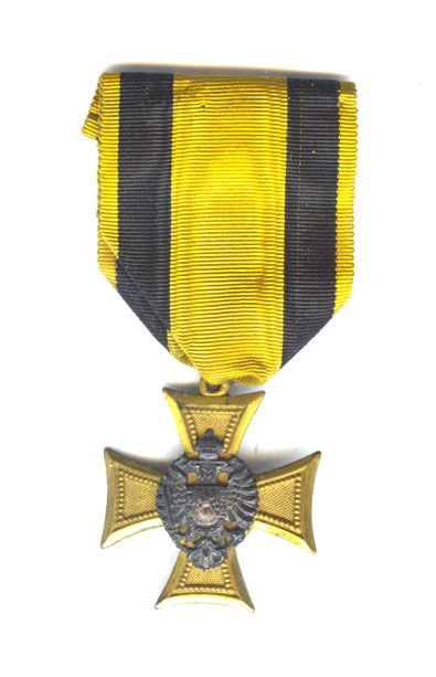Officer's Long service cross 25 years  1st Class 1847-67 with piece of... 1