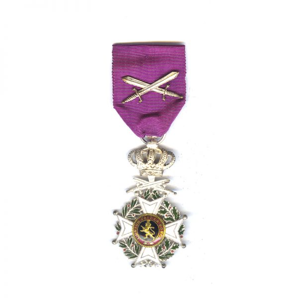 Order of Leopold French  Knight  badge Military with swords 1