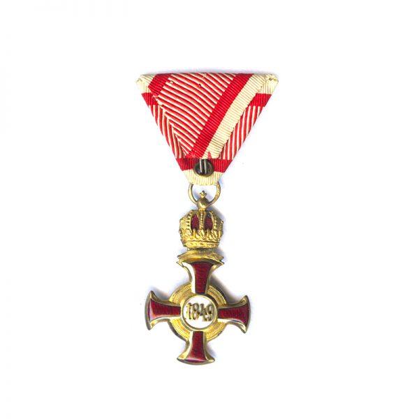 Golden Merit Cross 1849 large  type bronze gilt with crown 2