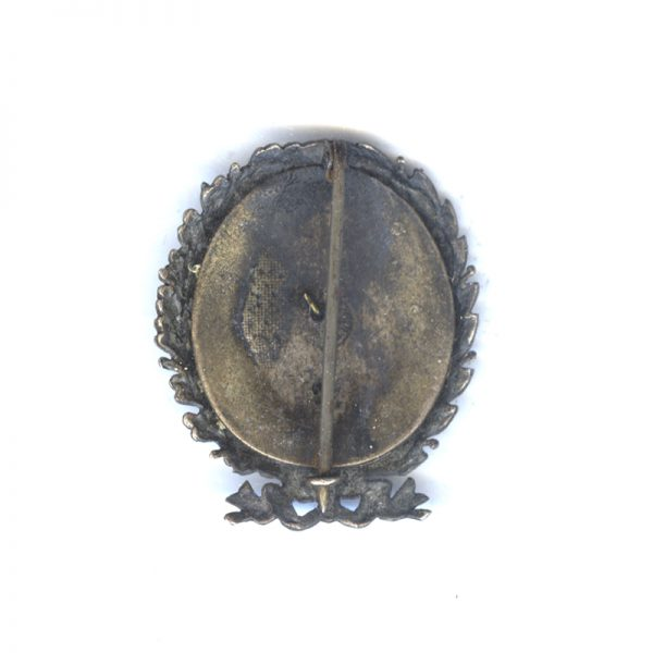 Royal Bulgarian Police Academy badge in silvered bronze with golden centre 2