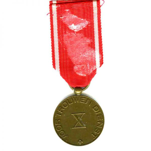 Red Cross Long Service medal 10 years 2