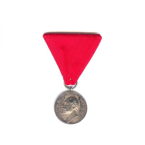 Medal of Merit Ferdinand I silver (L28216)  G.V.F. £45 1