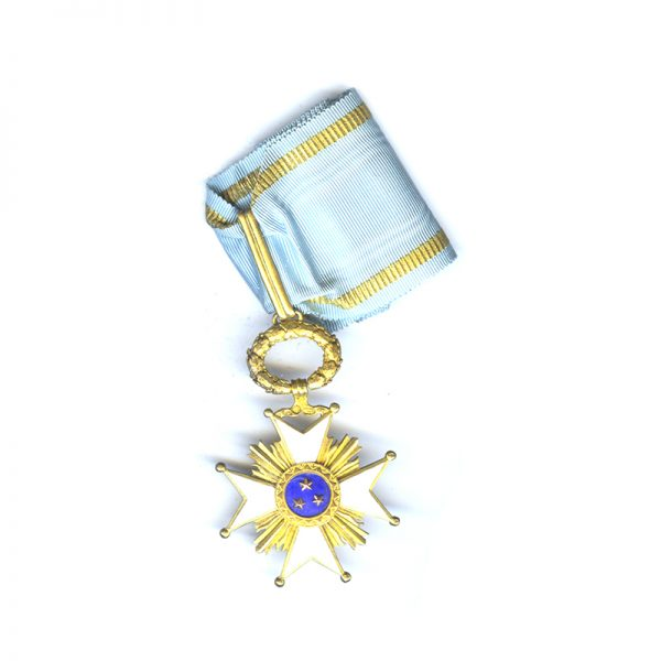 Order of the Three Stars Commander hallmarked silver gilt with full neck... 1