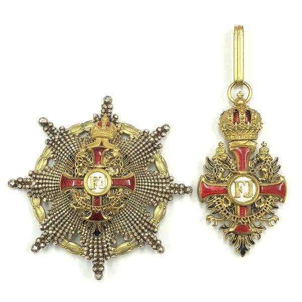 Order of Franz Joseph Commander  breast star 1