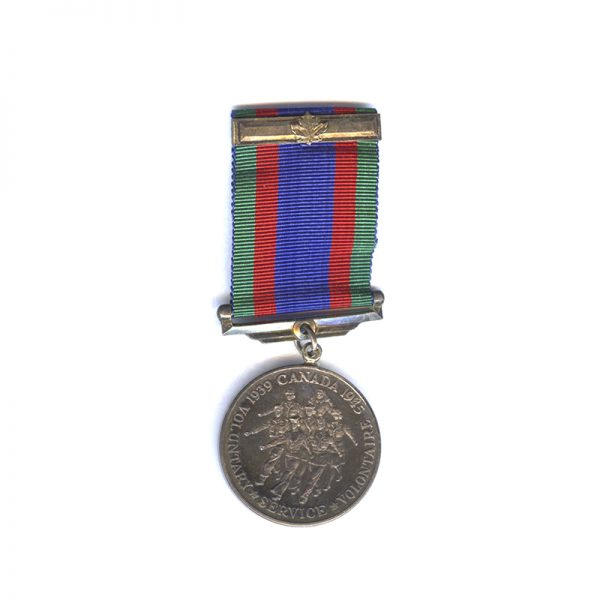 1939-45 Volunteers medal with overseas bar both  silver (L28231)  N.E.F. £55 1