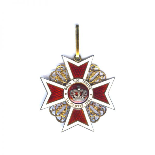 Order of the Crown 1st type Commander neck badge 1
