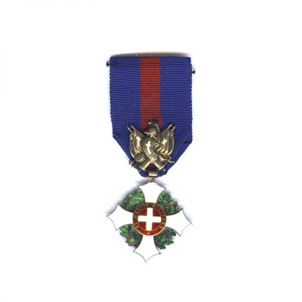 Military Order of Savoy Knight  1st type with trophy of Arms in... 1