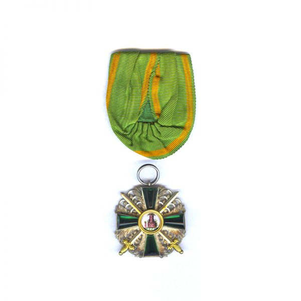 Order of the Zahringen Lion Knight with gold swords and centre 1