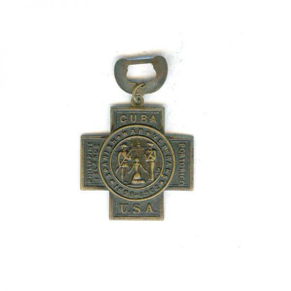 Spanish War Veterans 1889-1902 cross only (L3819)  G.V.F.  £30 2