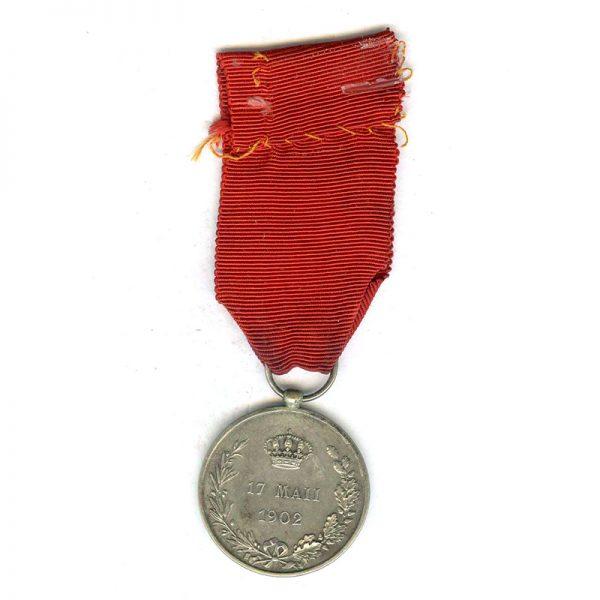 Alfonso XIII Coronation 1902 silver (L4969)  E.F. £35 2