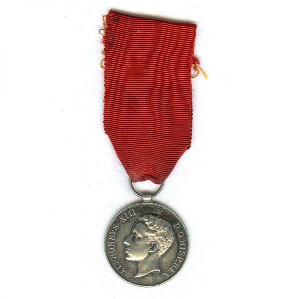 Alfonso XIII Coronation 1902 silver (L4969)  E.F. £35 1