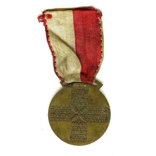 Confederation of Switzerland Centenary medal 1948(L6197)  V.F. £45 2
